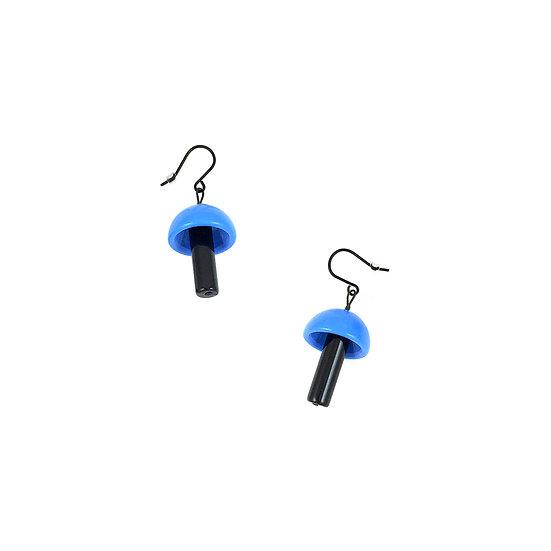 SCENERY LABEL Drop Earrings Blue Mushroom