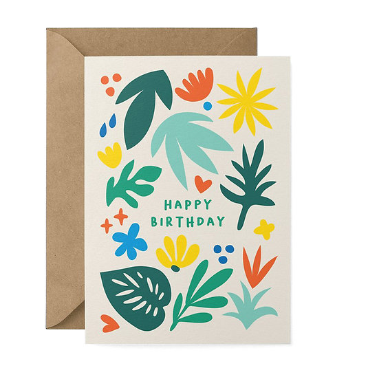GRAPHIC FACTORY Leafy Birthday Card