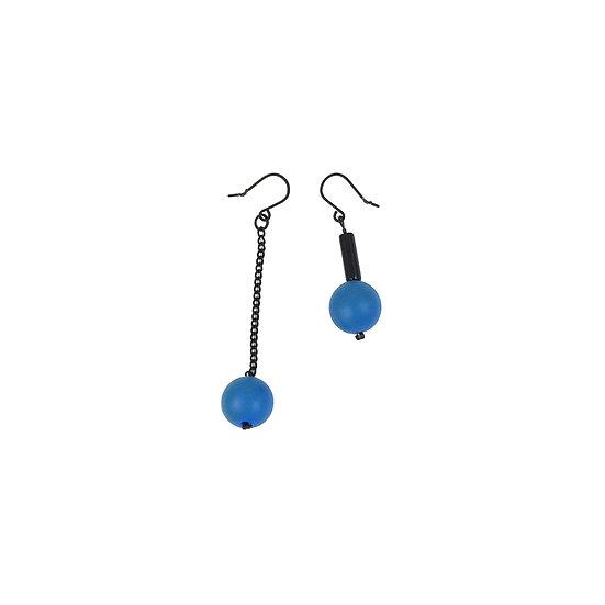 WHOLESALE Drop Earrings Blue Ball Mismatch