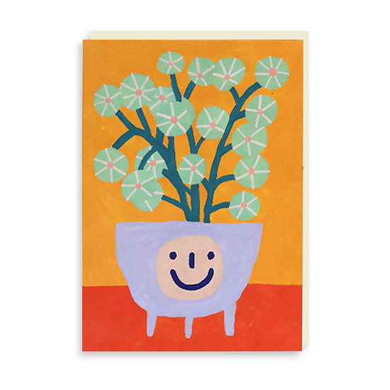 PANSY Happy Pancake Plant Card