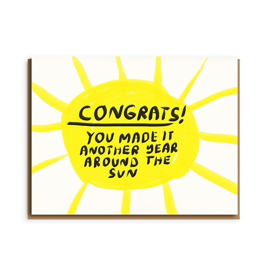 PEOPLE I'VE LOVED Congrats Birthday Card