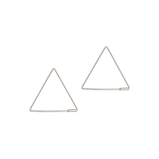 JUULRY Small Triangle Hoops Silver