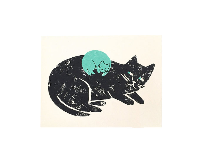 GILLIAN WILSON New Baby Cat Card