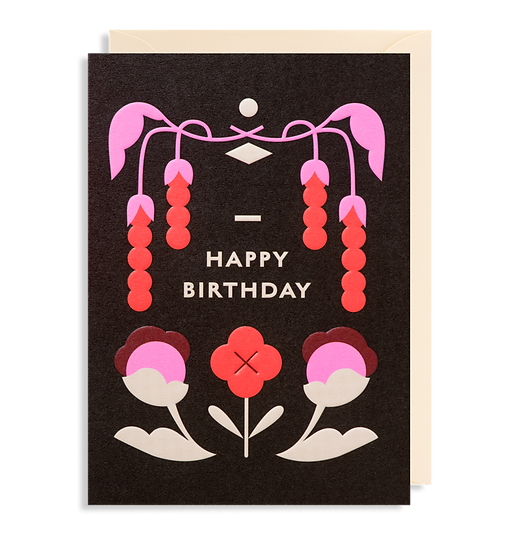 DARLING CLEMENTINE Birthday Black Card