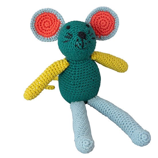 GLOBAL AFFAIRS Crochet Mouse Green