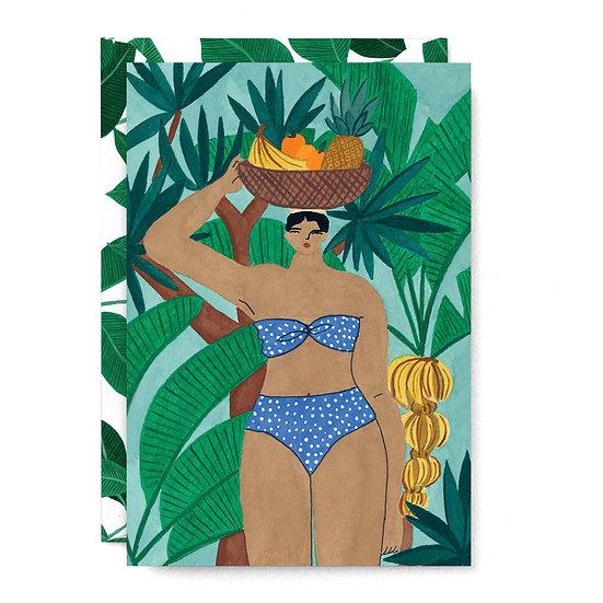 ISABELLE FELIU Fruit Lady Card