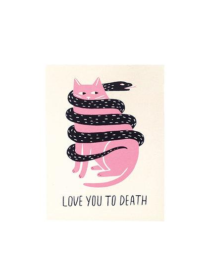 GILLIAN WILSON Love To Death Card