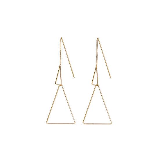 JUULRY Double Triangle Earrings Gold