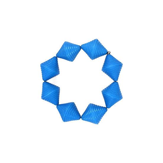 SCENERY LABEL Bead Bracelet Blue Bicone