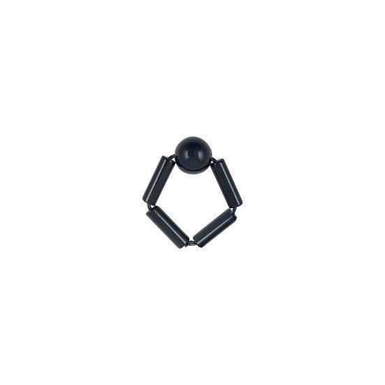 WHOLESALE  Bead Ring Black Ball