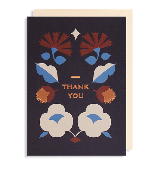 DARLING CLEMENTINE Thank You Black Card