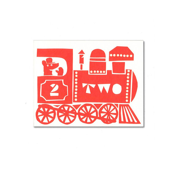 LISA JONES STUDIO Two Train Card