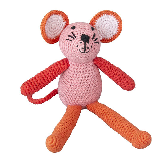 GLOBAL AFFAIRS Crochet Mouse Pink