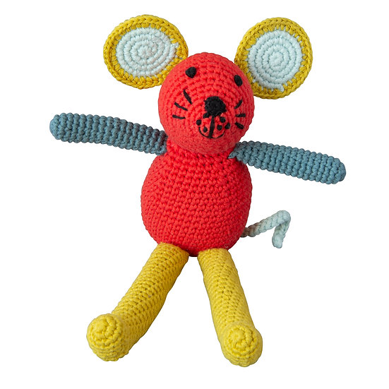 GLOBAL AFFAIRS Crochet Mouse Coral