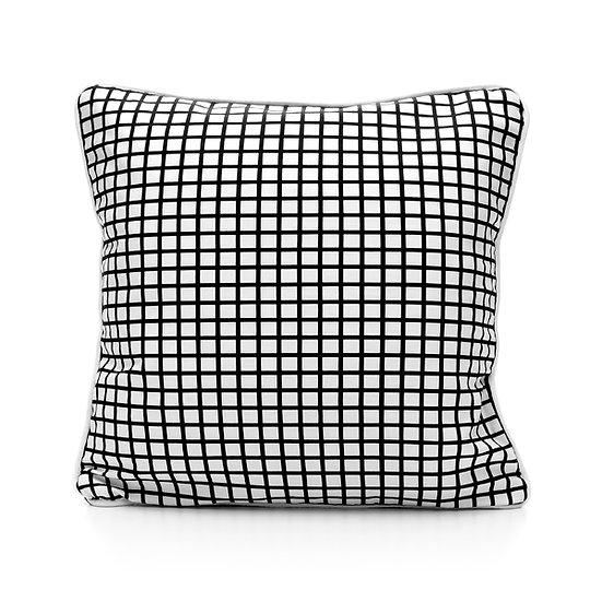 SCENERY LABEL Cushion Grid White
