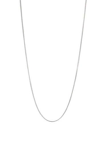 JUULRY Round Link Necklace Silver