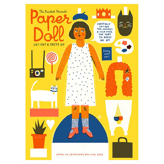 THE PRINTED PEANUT Paper Doll