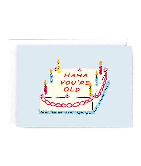 HOLLY ST CLAIR Haha Cake Card