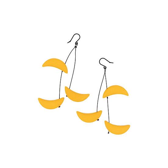 SCENERY LABEL Drop Earrings Yellow Moon