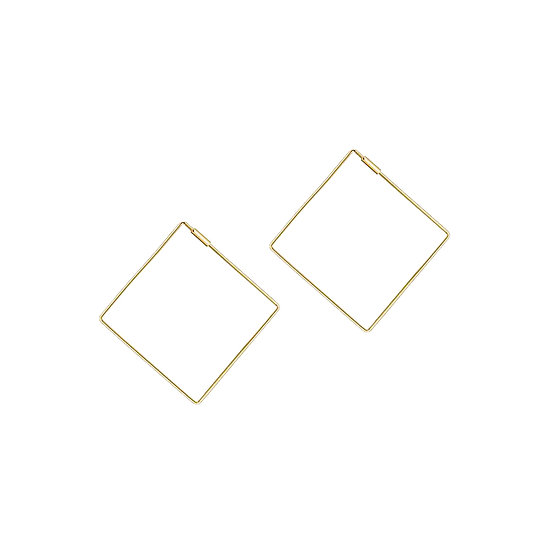 JUULRY Small Square Hoops Gold