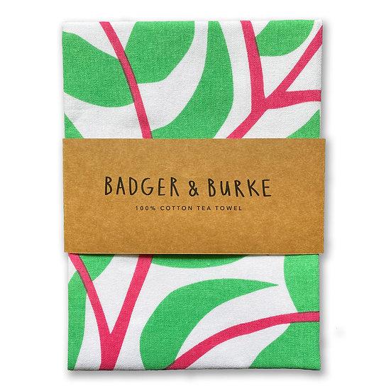 BADGER & BURKE Flowering Plant Tea Towel