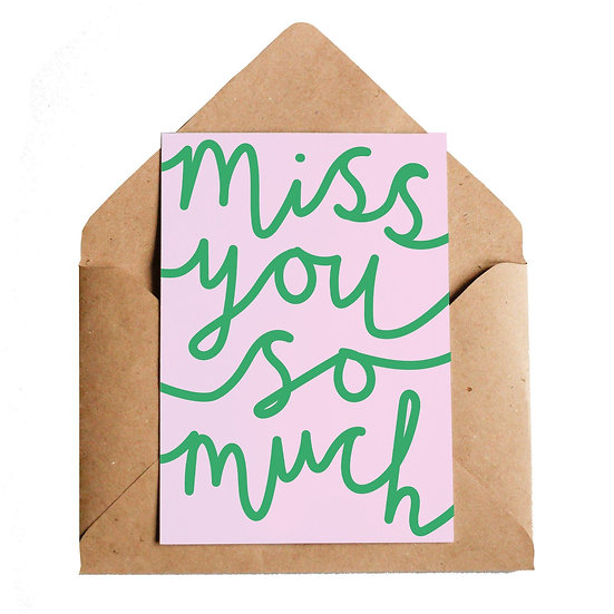 LOTTIE HALL Miss You Card