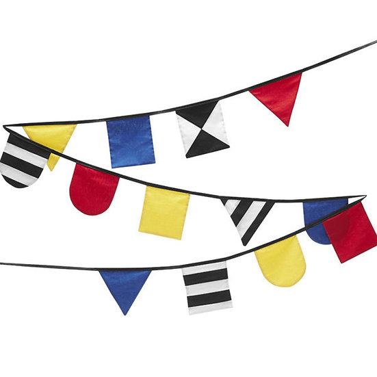 SCENERY LABEL Patchwork Flags Primary