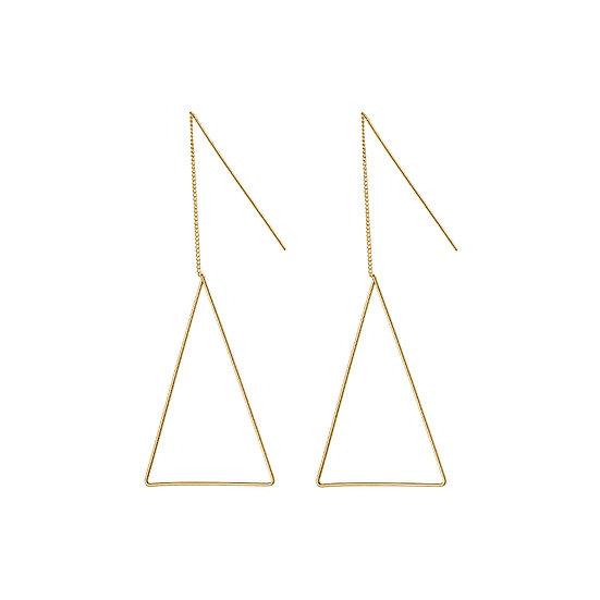 JUULRY Triangle Earrings Gold