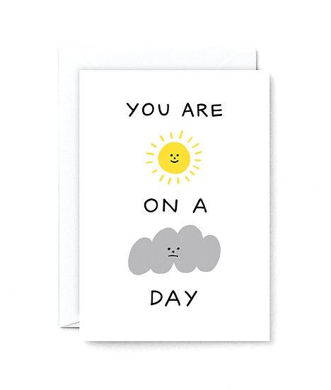 HOLLY ST CLAIR Sunshine Cloud Day Card