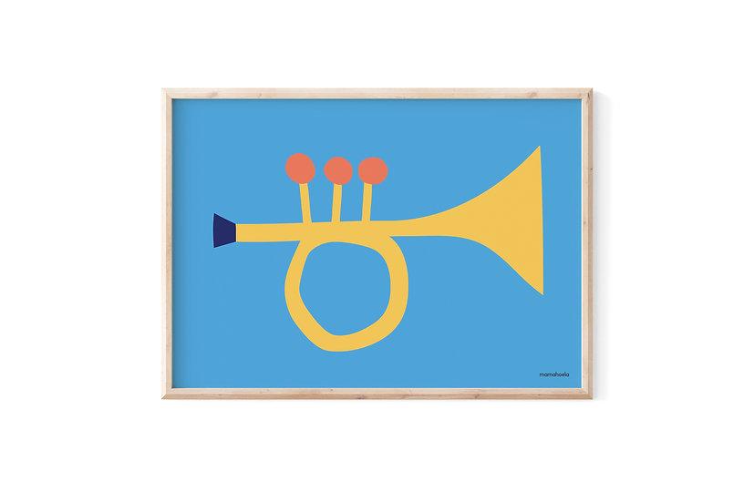 MAMAHOELA Trumpet Print