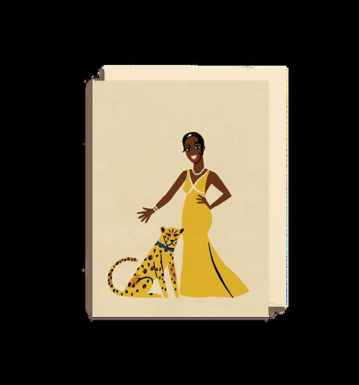 PAUL THURLBY Josephine Baker Card