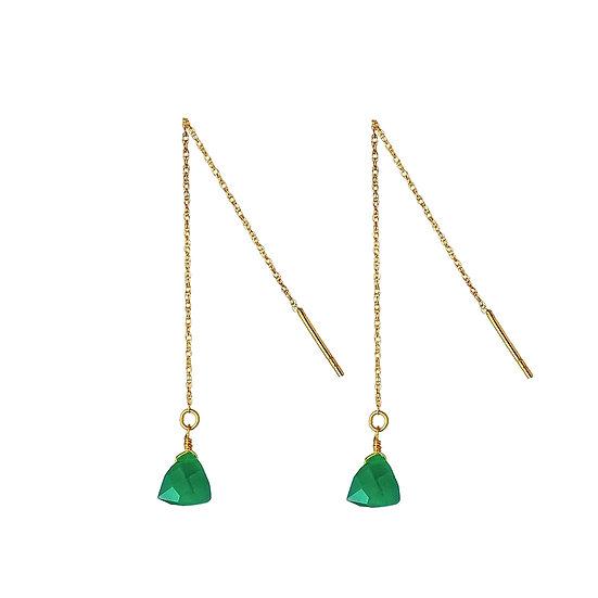 JUULRY Green Onyx Earrings