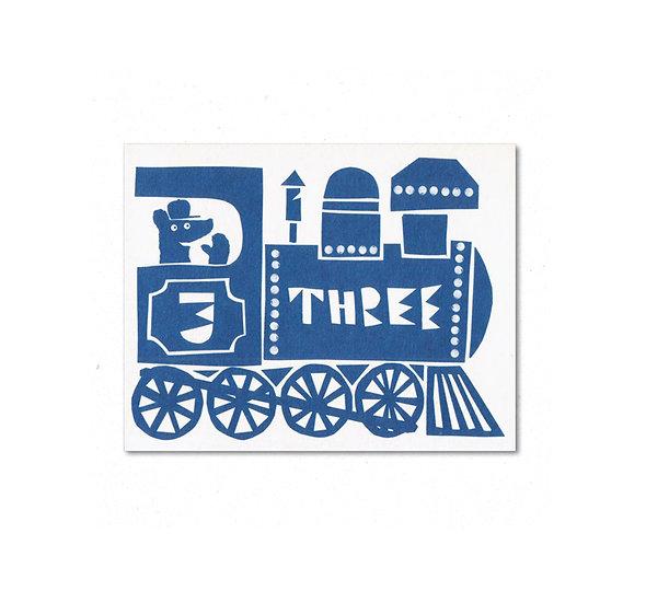 LISA JONES STUDIO Three Train Card