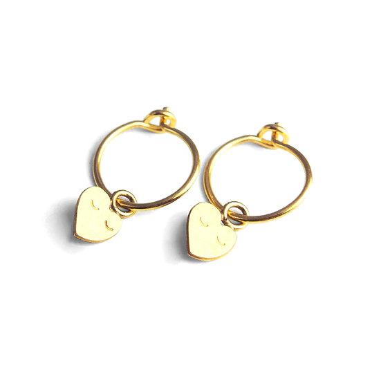 ADORABILI Heart Mini Hoop Earrings