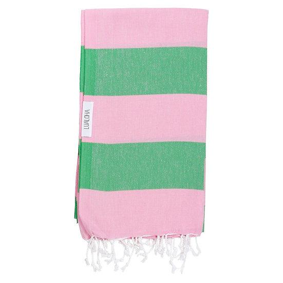 LUALOHA Green Pink Towel