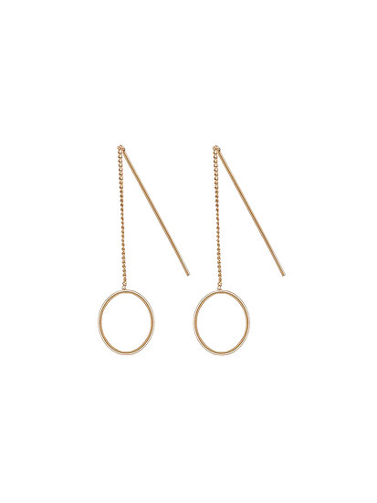JUULRY Small Circle Earrings Gold