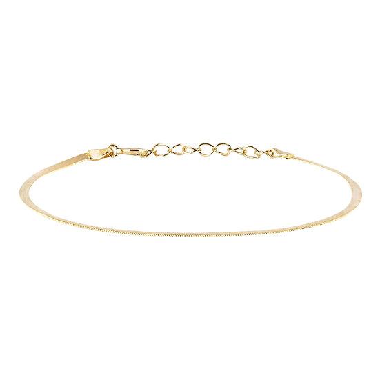 JUULRY Flat Link Bracelet Gold
