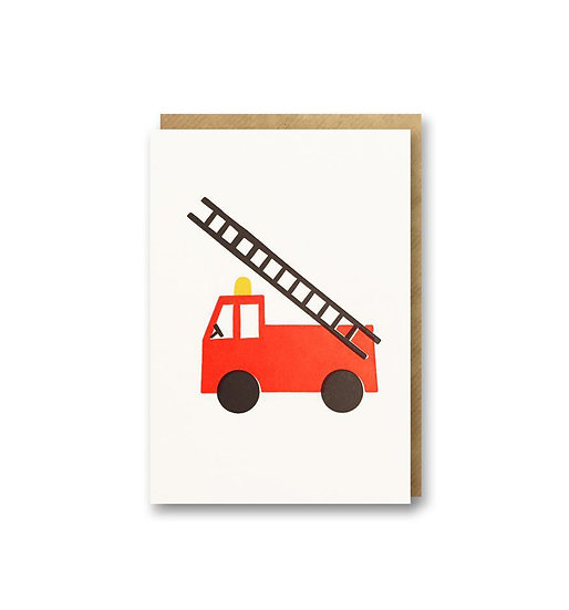 BITS AND BOBS Fire Engine Card