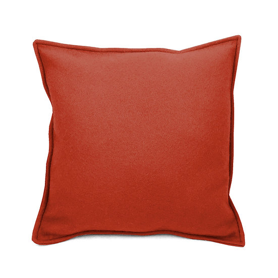 SCENERY LABEL Felt Cushion Terracotta