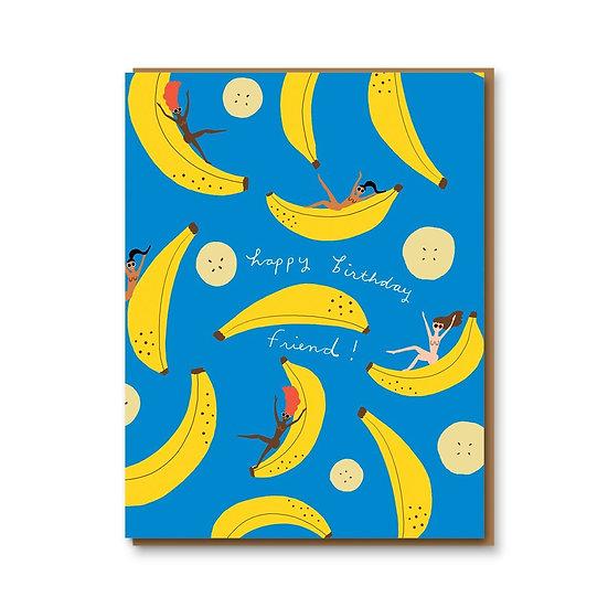 CAROLYN SUZUKI Banana Party Card