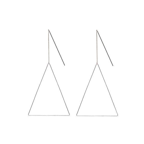 JUULRY Large Triangle Earrings Silver