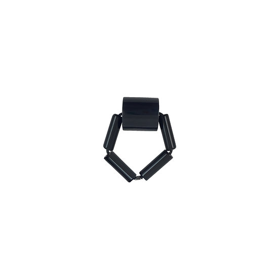 WHOLESALE Bead Ring Black Cylinder