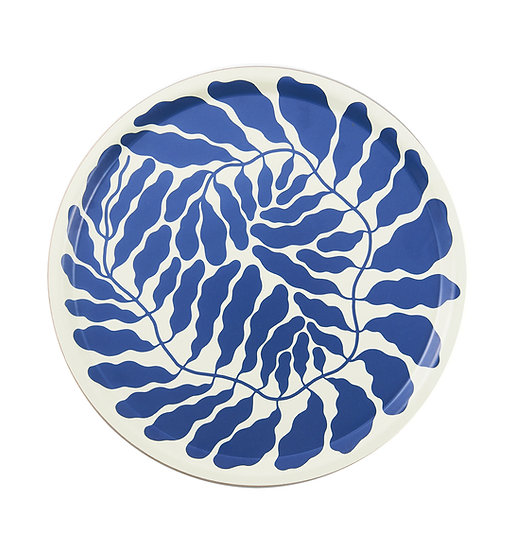 LINNEA ANDERSSON Blue Leaves Tray