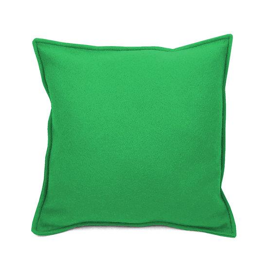SCENERY LABEL Felt Cushion Green