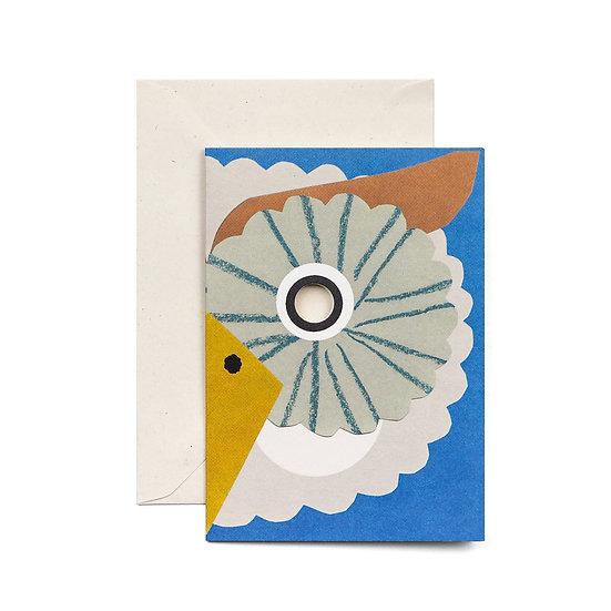 HADLEY Owl Mask Card