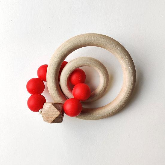 MAMAHOELA Teething Ring Red Kit