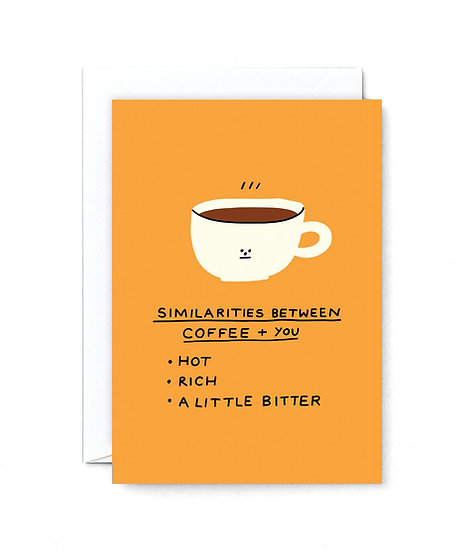 HOLLY ST CLAIR Coffee VS You Card