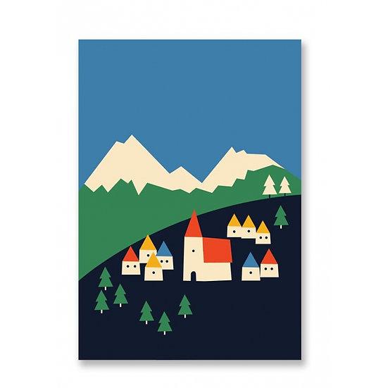 ANNA KÖVECSES Mountains Postcard
