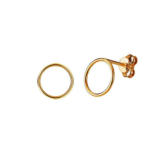JUULRY Circle Stud Earrings Gold