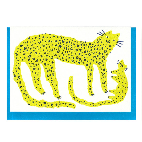 THE PRINTED PEANUT Leopard Baby Card